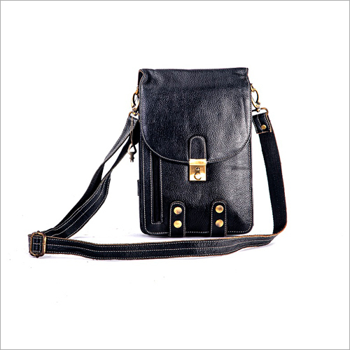 Unisex Full Grain Leather Sling Bag