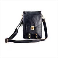 Unisex Full Grain Leather Sling Bag