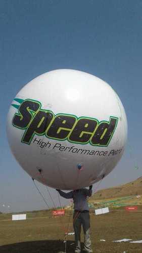 Attractive Design Gas Balloon Advertisement