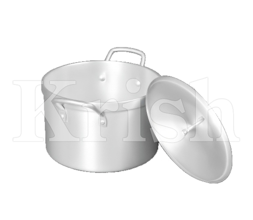 Aluminium Heavy Cooking Pot with Cover