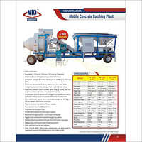 Fully Automatic Mobile Concrete Batching Plant VK525