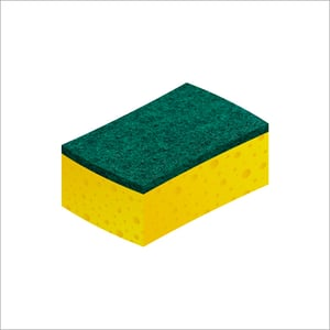 Sponge With Scouring Pad