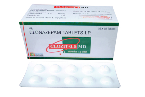 CLOZIT 0.5 MD TABLET
