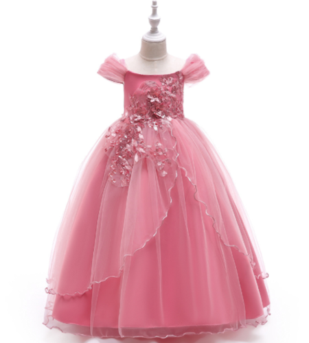 Kids off shoulder gown