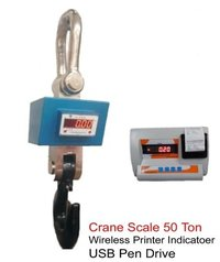 50 Ton X 20 Kg Crane Scale With Wireless Printer Indicator Usb Pen Drive Rs232