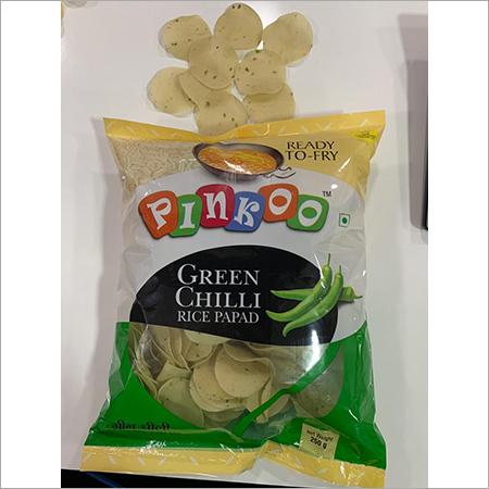 Pinkoo green chilli rice papad- 250gm