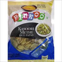 Pinkoo kasoori methi rice papad-250gm