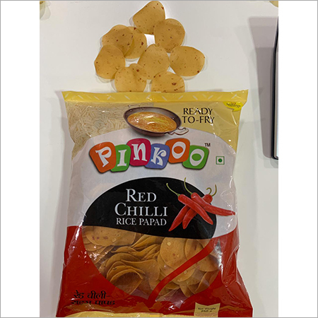 Pinkoo red chilli rice papad-250gm