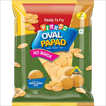 Pinkoo Oval Papad No Maida Puri 1kg