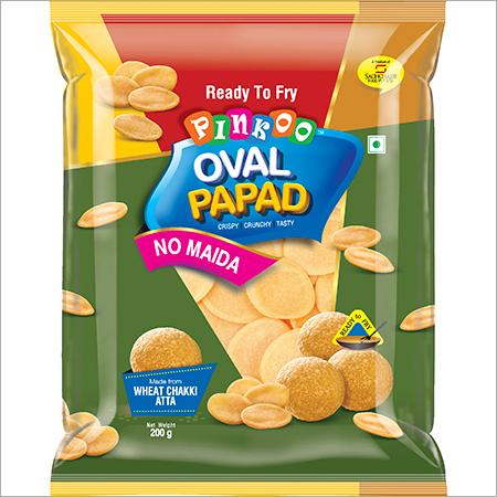 Pinkoo Oval Papad No Maida Puri Pack 200g