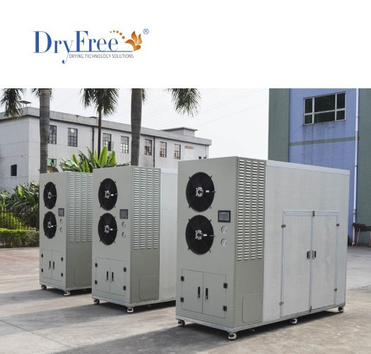 High efficiency heat pump peanut dryer
