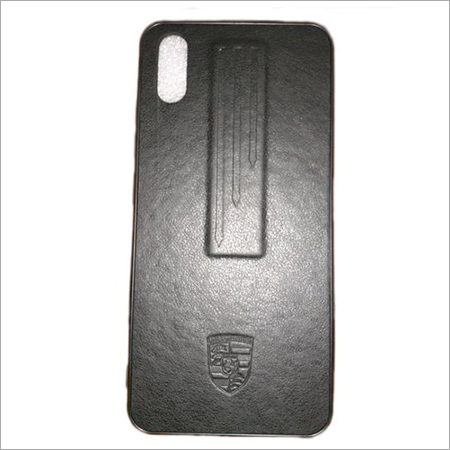 Black Leather Mobile Cover