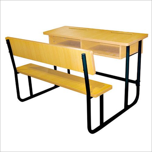 Fiber School Desk Bench