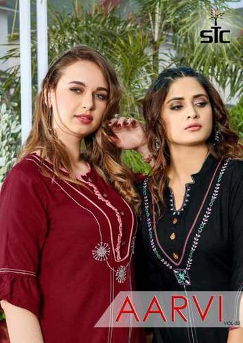 Rayon With Premium Hand Work Kurti