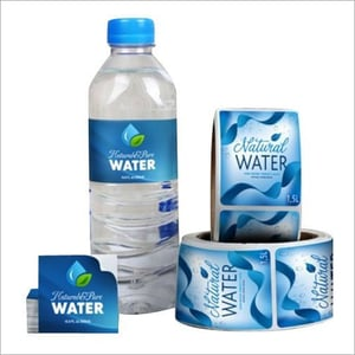 Plastic Water Bottel Label