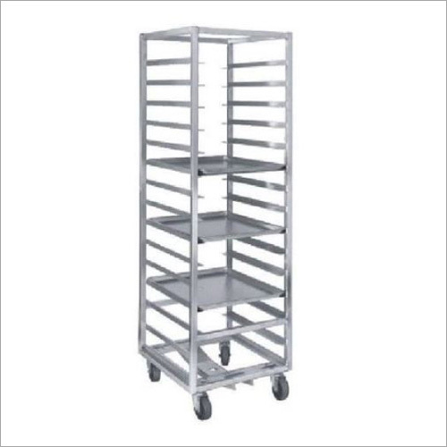 Stainless Steel Tray Rack Trolley