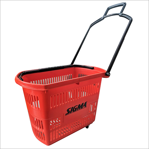 Four Wheel Plastic Basket Trolley
