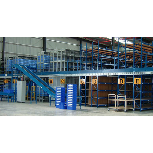 MS Mezzanine Flooring System With Heavy Duty Pallet Rack