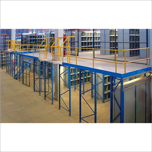 Mezzanine Flooring System With Slotted Angle Rack