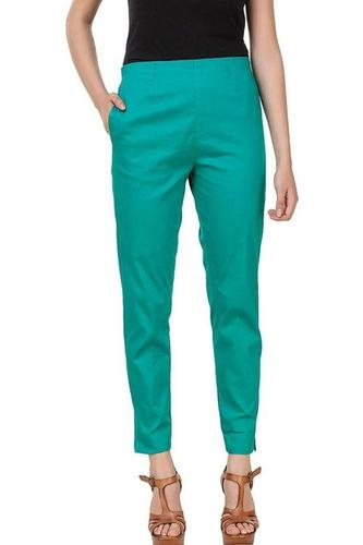 Ladies Cotton Plain Pant