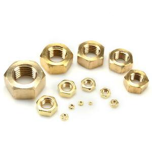 brass hex nut m2.5 to m8