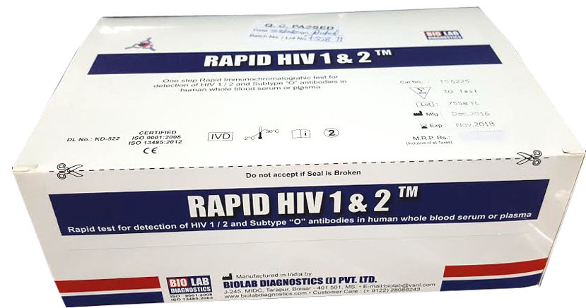Rapid HIV TRI Line Test Card