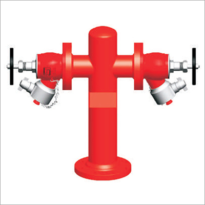 Double Headed Fire Hydrant Stand Post