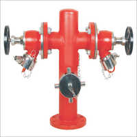 Double Headed With Butterfly Valve Post