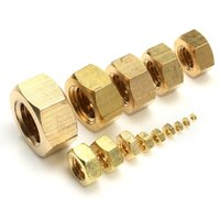 Solid brass hex nut