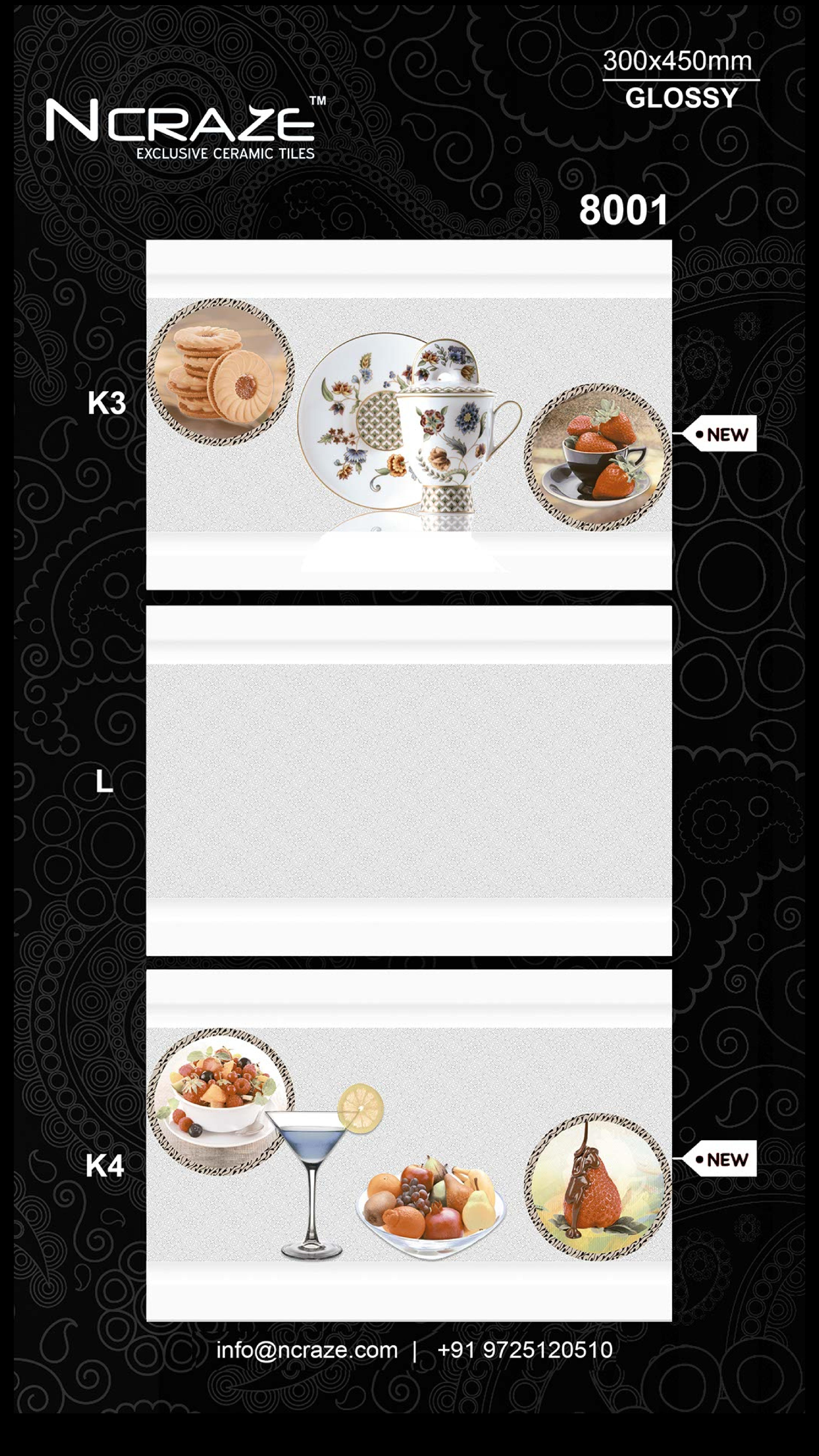 350x450 Digital Kitchen Wall Tiles