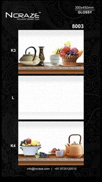 350x450 Digital Kitchen Wall Tiles