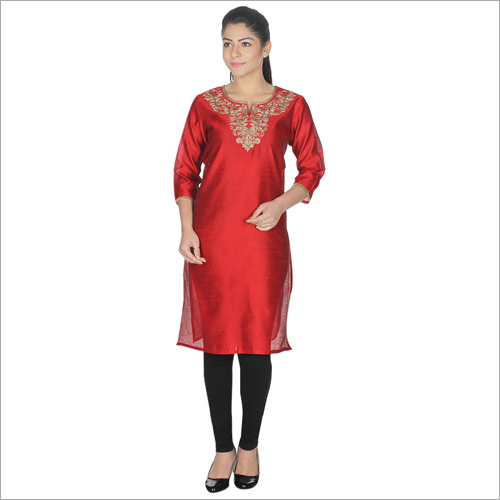 Ladies Neck Embroidery Kurti