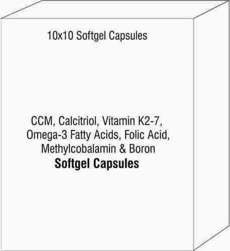 CCM Calcitriol Vitamin K2-7 Omega-3 Fatty Acids Folic Acid Methylcobalamin & Boron