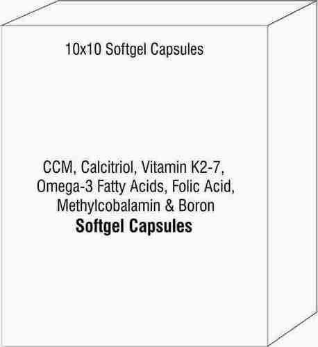 CCM Calcitriol Vitamin K2-7 Omega-3 Fatty Acids Folic Acid Methylcobalamin & Boron Soft Gelatin