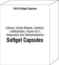 Calcium Citrate Maleate Calcitriol L-Methylfolate Vitamin k2-7 Magnesium Zinc Methylcobalamin