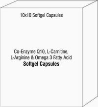 Co-Enzyme Q10 L-Carnitine L-Arginine Omega 3 Fatty Acid Soft Gelatin Capsules