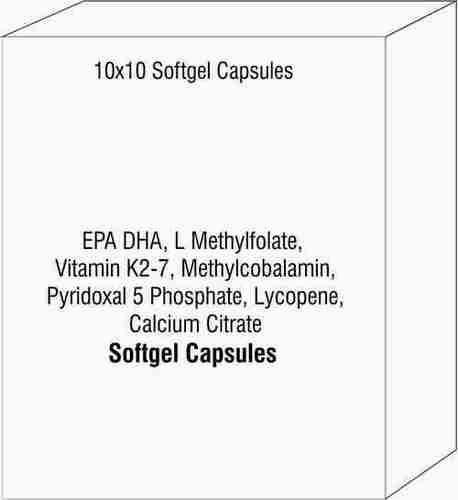 EPA DHA L Methylfolate Vitamin K2-7 Methylcobalamin Pyridoxal 5 Phosphate Lycopene Calcium Citrate
