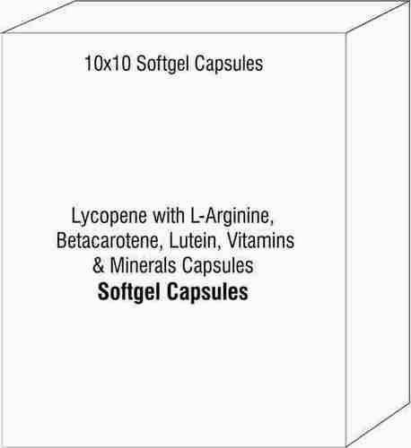 Lycopene with L-Arginine Betacarotene Lutein Vitamins & Minerals Capsules