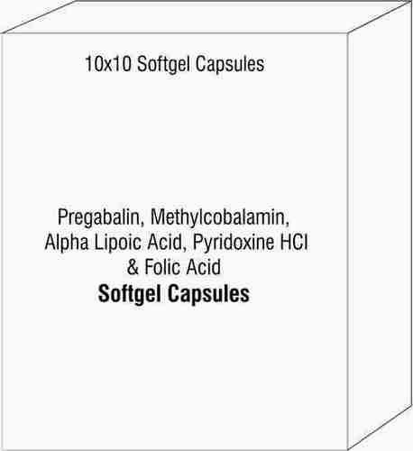 Pregabalin Methylcobalamin Alpha Lipoic Acid Pyridoxine HCI & Folic Acid
