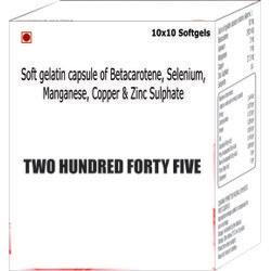 Soft Gelatin Capsule Of Betacarotene Selenium Manganese Copper &Amp Zinc Sulphate