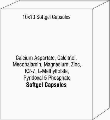 Calcium Aspartate Calcitriol Mecobalamin Magnesium Zinc K2-7 L-Methylfolate Pyridoxal 5 Phosphate