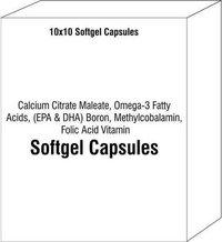Calcium Citrate Maleate Omega-3 Fatty Acids (EPA & DHA) Boron Methylcobalamin Folic Acid Vitamin