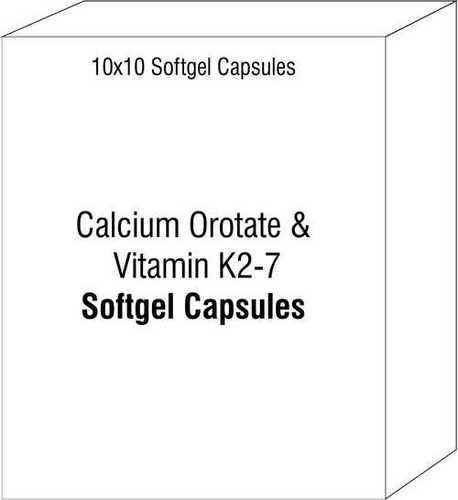 Soft Gelatin Capsule of Calcium Orotate and Vitamin K2-7