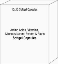 Amino Acids Vitamins Minerals Natural Extract and Biotin