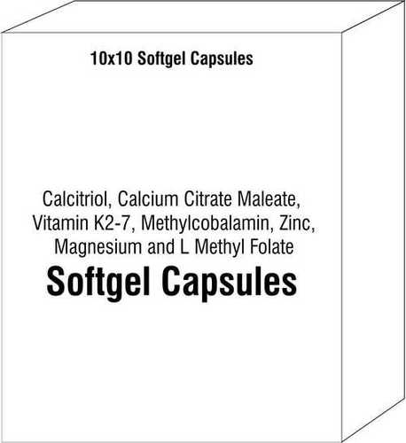 Calcitriol Calcium Citrate Maleate Vitamin K2-7 Methylcobalamin Zinc Magnesium and L Methyl Folate