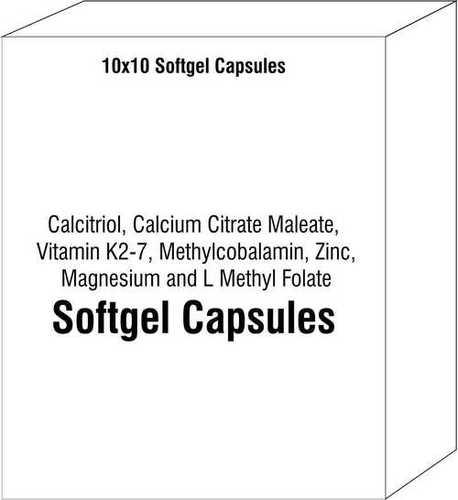 Calcitriol Calcium Citrate Maleate Vitamin K2-7 Methylcobalamin Zinc Magnesium and L Methyl Folate