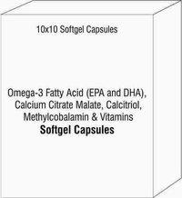 Omega-3 Fatty Acid (EPA and DHA) Calcium Citrate Malate Calcitriol Methylcobalamin Vitamins