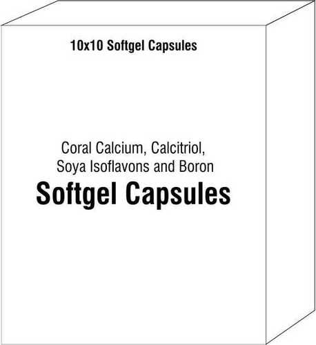 Soft Gelatin Capsule Of Coral Calcium Calcitriol Soya Isoflavons And Boron