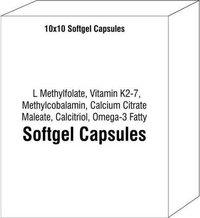 L Methylfolate Vitamin K2-7 Methylcobalamin Calcium Citrate Maleate Calcitriol Omega-3 Fatty