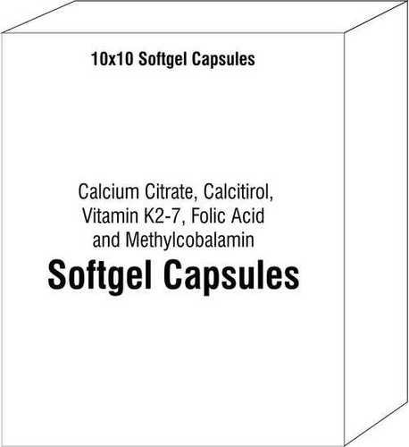 Calcium Citrate, Calcitirol, Vitamin K2-7 Folic Acid and Methylcobalamin